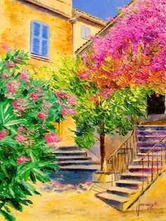 Picasso, Pintura Exterior, Monet Paintings, Cottage Art, Modern Impressionism, Country Landscaping, Palette Knife Painting, Famous Art, Painting Lessons