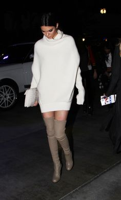 asoslive:  Kendall Jenner giving over-the-knee boots a 2015 update: