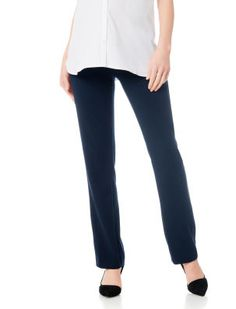 748244b9f3269 A Pea in the Pod Secret Fit Belly Bi-stretch Suiting Back Pockets Slim Leg  Navy Maternity Pants