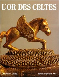 Detail of the Celtic gold torc, 480 BCE. Found in a female's grave at the village of Vix, the Côte-d'Or department, northeastern Burgundy. L'Or des Celtes de Christiane Eluère Editeur : La Bibliotheque des Arts
