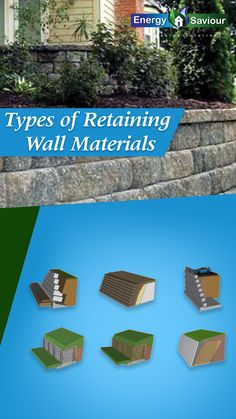 A concrete wall can often last up to a whole century. Variety – Concrete blocks come in different shapes and sizes and can be used to create curves... #bestinsulationforexteriorwalls #differenttypesofretainingwalls #retainingwalltypes #gravityretainingwall #cantileverretainingwall #inexpensiveretainingwalloptions #retainingwallideas Gravity Retaining Wall, Types Of Retaining Wall, Concrete Blocks, Concrete Wall, Underfloor Insulation, Green Homes, Central Heating, Different Shapes, Stepping Stones