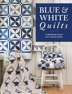 Code: ISBN: 9781604689624 Generations of quilters have been captivated by the simple beauty of red-and-white quilts. Today's quilters are no different. Whether it's humble patchwork or more complex designs, a quilt stitched in only red and white fa Two Color Quilts, Blue Quilts, Mini Quilts, Nine Patch, Red And White Quilts, Blue And White, Antique Quilts, Vintage Quilts, Fat Quarter Shop