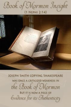 Lehi correctly uses common imagery from the ancient world in his phrases. Imagery that both the Bible and Shakespeare use. Read more here http://www.knowhy.bookofmormoncentral.org/content/did-lehi-quote-shakespeare #bookofmormon #lds #mormon #shakespeare