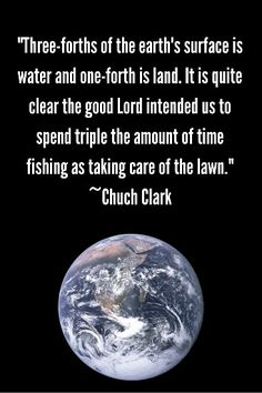 Fishing and not yard work!