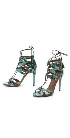 Aquazzura Beverly Hills Lace Up Sandals | SHOPBOP