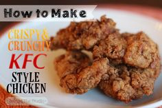 KFC Style Fried ChickenCrispy and Crunchy KFC Style Chicken is a finger-lickin' good copycat recipe that is the perfect summer potluck pick.