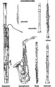 Clear scaled image for handout or poster of woodwind instruments. Basson, Instruments Of The Orchestra, Music Worksheets, Music And Movement, Music Activities, Elementary Music, Music For Kids, Music Classroom, Music Theory