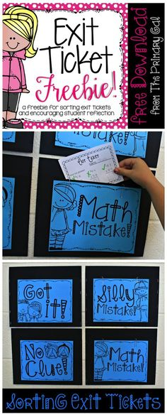 1st Grade Fantabulous A Little Bit of This and That- Ticket Out - Exit Ticket Template