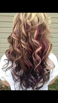 1000+ ideas about Purple Peekaboo Highlights on Pinterest   Peekaboo highlights, Colored highlights and Peekaboo hair