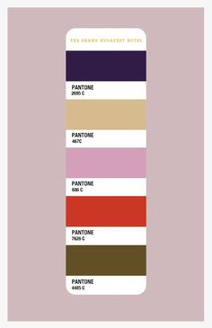 The Grand Budapest Hotel Color Palette: