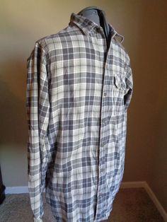Men's Columbia Sportswear Omniwick Cotton Long Sleeve Brown Plaid Button Shirt M #Columbia #ButtonFront