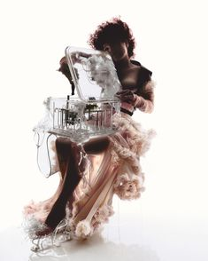 Alexander McQueen, Nick Knight and Bjork collaboration for the cover of 2003's Vespertine Live at the Royal Opera House