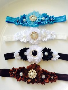 Choose color from clearance flower rhinestones headband  , baby headband , newborn headband , girls headband on Etsy, $2.50