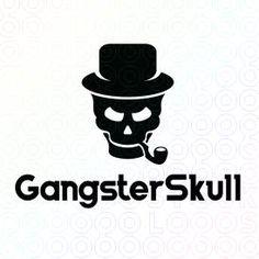 Creative Skull With Hat Mascot Logo Design For Sale On StockLogos | Gangster Skull logo