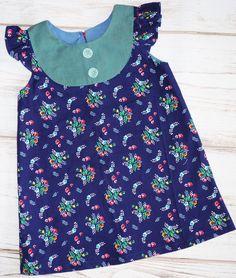 Vintage floral dress -back to school dress- girls size 3 dress - girls handmade dress -  girls flutter sleeve dress - boutique girls dress by UpperLooper on Etsy https://www.etsy.com/listing/469060497/vintage-floral-dress-back-to-school