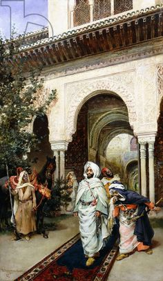 Leaving the Alhambra by Harry Humphrey Moore