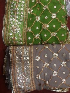 Gota Patti work saari & lahange Pakistani Wedding Outfits, Wedding Dresses For Girls, Pakistani Dresses, Indian Dresses, Indian Outfits, Gota Patti Suits, Gota Patti Saree, Embroidery Suits Punjabi, Hand Embroidery Dress