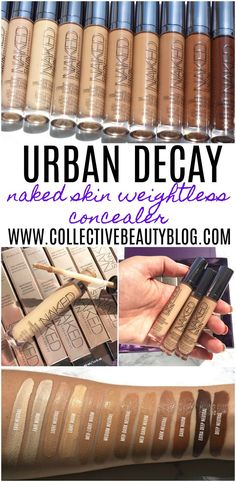 Review and swatches of the complete Urban Decay Naked Skin Weightless Complexion Concealer line!