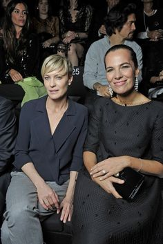 Robin Wright and Roberta Armani