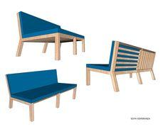 ESPERANZA: Sofá de dos puestos con estructura en madera Amarillo o Cedro blanco,tapizado en sintético y espuma de alta densidad .