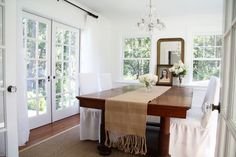 A Country Farmhouse: The Dining Room
