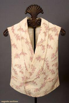 Augusta Auctions, November, 2007 -Tasha Tudor Historic Costume Collection, Lot 351: Gent's Marseilles Vest, France, 1830-1850