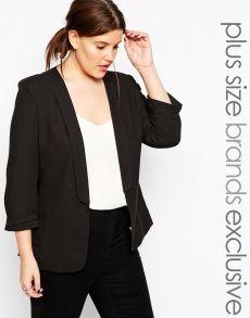 #Looks #GrandesTailles #Femmes  #Veste #Blazer #Noire #AsosCurve