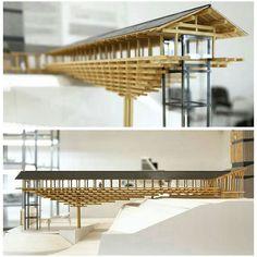 Yusuhara wooden bridge Museum Kengo Kuma #archivalue #archimodel