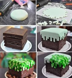 Mine Craft Birthday Cake For Boys - Cupcakepedia