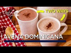 Avena Dominicana Two Ways Dominican Dominican Recipes, Drink Recipes Nonalcoholic, Yummy Drinks, Yummy Food, Haitian Food Recipes, Cuban Recipes, Oatmeal Recipes, Coffee Recipes, Almond Milk