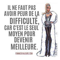 @femmedevaleursmag Citation Motivation #Citation #Motivation Femme #Femme French Expressions, Strong Words, Successful Women, Live Love, Motivation, Sentences, Feel Good, Messages, Quotes