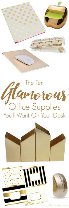 Glamorous Office Supplies that will make you fall in love with your desk!Ten Glamorous Office Supplies that will make you fall in love with your desk! Home Office Space, Home Office Design, Home Office Decor, Home Decor, Office Ideas, Cozy Office, White Office, Desk Office, Desk Space