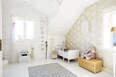 Scandinavian interior design, kids room #bunnyinthewindow