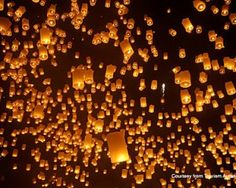 Celebrate Yi Peng, the Northern Thai Festival of Lights, at Four Seasons Resort Chiang Mai -- Yi Peng Festival in Chiang Mai