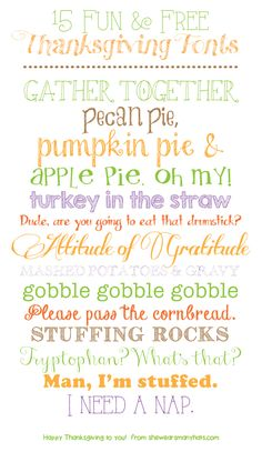 15 Fun and Free Fonts perfect for Autumn and Thanksgiving
