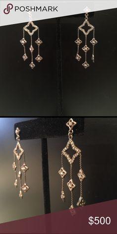 Small chandelier earrings silver toned small chandelier earrings small chandelier earrings silver toned small chandelier earrings with blue accent beads approx 1 inch long jewelry earrings my posh picks pinterest aloadofball Gallery
