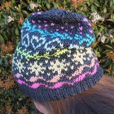 Wade Hat knit in mudpunch yarn