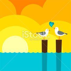 Summer love Artes e ilustrações vetoriais livres de royalties