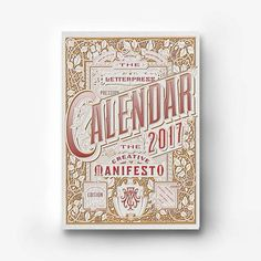 The 2017 Creative Manifesto Letterpress Calendar by French graphic designer Fabien Barral, aka Mr. Cup, is a creative collaborative effort between designers, graphic artists, typographers and lette… Monthly Planner Printable, Printable Calendar Template, Kids Calendar, Calendar Design, Calendar 2017, Identity, Layout, Branding, Printable Christmas Cards