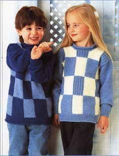 """childrens long two colour sweater knitting pattern pdf download childrens tunic 20-30"""" DK light worsted 8 ply childrens knitting pattern pdf by Minihobo on Etsy"""
