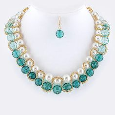 Pearl Gemstone Bead Necklace from Jill Marie