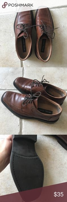 Men's leather brown dress shoes Dress up or down - great with jeans. Worn 5 times. Shoes Loafers & Slip-Ons