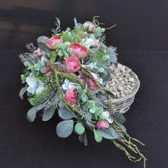 Dekoracja nagrobna Nr 235 Beautiful Bouquet Of Flowers, Funeral Flowers, Florists, Flower Wall, Floral Wreath, Wreaths, Plants, All Saints Day, Autumn