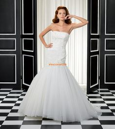 Strapless Mouwloos Rits Bruidsmode 2014