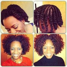 Flat twist out - like it #TeamNatural?