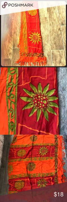 Bohemian wrap 🌻🌵 Cute boho wrap can be used as scarf, tied on side as skirt, or head wrap. It is approximately 41 inches wide by 56 inches long. Get summer ready with this bohemian print. Accessories Scarves & Wraps
