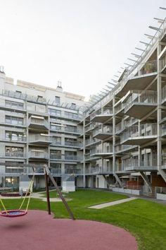 Social Housing - 96 units | AllesWirdGut #terrassen #appartementen #structuur #sociaal #collectief