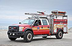 FDNY, New York City, Queens, Rockway Peninsular. Ford F550 Super Duty ATRV (All Terrain Response Vehicle) 2nd Part Of Engine 329. Photo: Andy Daley @daleyfirefotos Fire Dept, Fire Department, Ambulance, Police Truck, Firefighter Pictures, Fire Equipment, Rescue Vehicles, Heavy Truck, Fire Apparatus