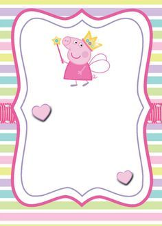 Swara is turning Peppa Pig Birthday Invitations, Pig Birthday Cakes, Baby Invitations, Invitacion Peppa Pig, Cumple Peppa Pig, Pig Crafts, Pig Party, Hello Kitty Wallpaper, Ideas