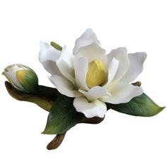 """Candabean Collectibles  - Andrea SADEK 2.5 """" White Magnolia with Bud Porcelain Figurine, $14.00 (http://www.candabeancollectibles.com/andrea-sadek-2-5-white-magnolia-with-bud-porcelain-figurine/)"""